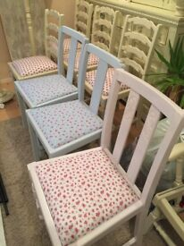 HAND PAINTED CHAIRS 15.00 EACH