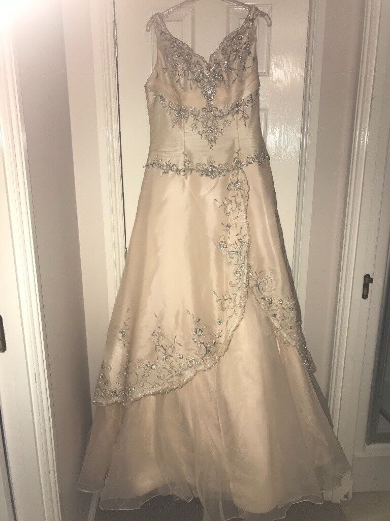 Used wedding dresses for sale in west lothian gumtree beautiful wedding dress champagne colour size 12 raylia designs ombrellifo Image collections