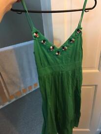 Fever green dress - UK 8