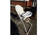 Mothercare highchair USED ONCE LIKE NEW