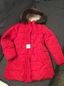 M&S winter coat for girls size 9-10