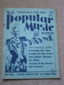"THREE VINTAGE ""POPULAR MUSIC AND DANCING WEEKLY"" SONG BOOKS"