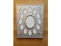Silver Colour 'My First Year' Baby Multi-Photo Frame