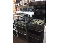 Brown Parkinson Cowan 50cm eye level gas cooker grill & double ovens good condition with guarantee