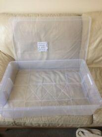Ikea Samla Plastic Storage Box and Lid, Perfect Condition, £5