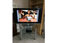 """LG LCD 32"""" TV, FreeView box & stand"""