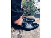 Rare Vintage Gucci Horsebit Loafers brown insides UK 10