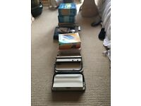 For Sale. 3 binding machines, 7 boxes of binding wires and 5 boxes of impress bind covers