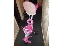Pink push and ride trike