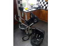 Quinny Buzz 3 Pushchair and maxi cosi pebble car seat