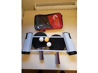 Table Tennis Set 2 Racket + 3 Ball + 1 Racket Pouch + Portable table tennis net rack