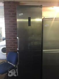 HOTPOINT STAINLESS STEEL FRIDGE FREEZER GOOD CONDITION 🌎🌎