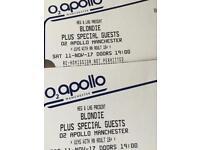 Blondie X2 standing Saturday 11th November manchester Apollo 07393471927