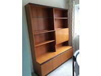 G Plan table and 4 chairs Display cabinet and sideboard in oak
