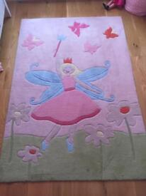 Girls fairy and butterfly rug