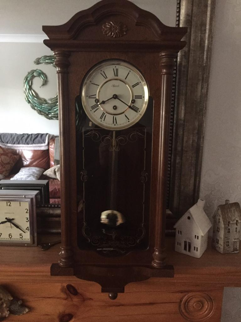 Franz Hermle Fulham Wall Clock Reduced In Healing