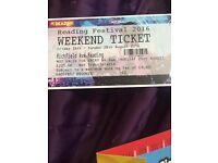 Reading festival weekend ticket