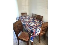 Wooden Dining Tables & Six Chairs