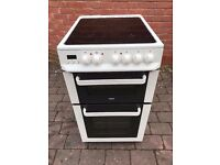 Zanussi Electric Cooker with Ceramic Hob *model ZCV563DW* Clean* Can Deliver