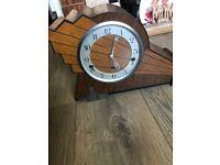 Art Deco clock with 3 movements