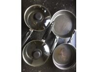 Selection of used Kitchen Cookware Saycepans Frying Pans