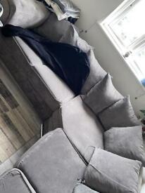 Used grey sofa
