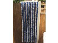 Caravan/Motorhome Door Insect Fly Curtain, Blue & Grey Soft Strands