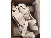 Women's river island white sandals size 5 brand new