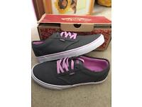 Brand new size 8 Grey and pink vans low top sneakers trainsrs
