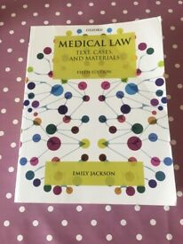 Book Medical Law Text, Courses and Materials 5th Edition, Emily Jackson 2019