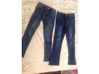 Girls jeans bundle 8-9