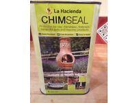 1 litre of La Hacienda Chimseal Sealer For Clay Chimeneas & Terracotta Pots, Sealed, new