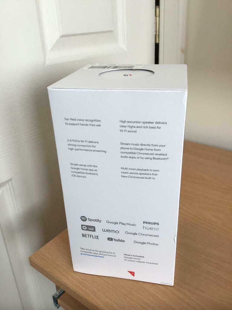 Google Home-Voice Activated Smart Speaker and Personal Assistant | in  Newburgh, Fife | Gumtree