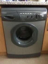 Grey hotpoint washing machine