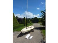 Laser 1 Dinghy with Full Rig, Launching Trailer & Cover