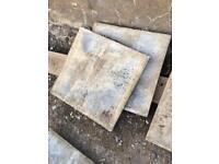 Paving slabs - grey concrete