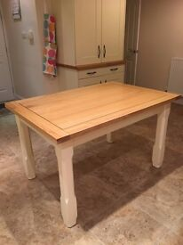 Oak and Cream Dining Table