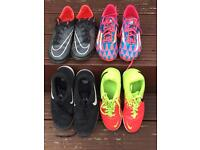 3 pairs trainers and 1 pair football boots