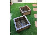 Heavy duty wooden planters