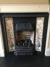 Original Victorian Fireplace Tiles