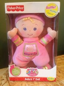 Fisher Price Baby's 1st Doll. Brilliant Basics