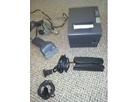 JOB LOT OF SHOPKEEPERS ELECTRONIC ESSENTIALS TILL PRINTER BARCODE SCANNER CARD READER MICROPHONE
