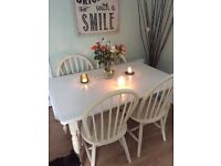 Table and chairs - Shabby chic project