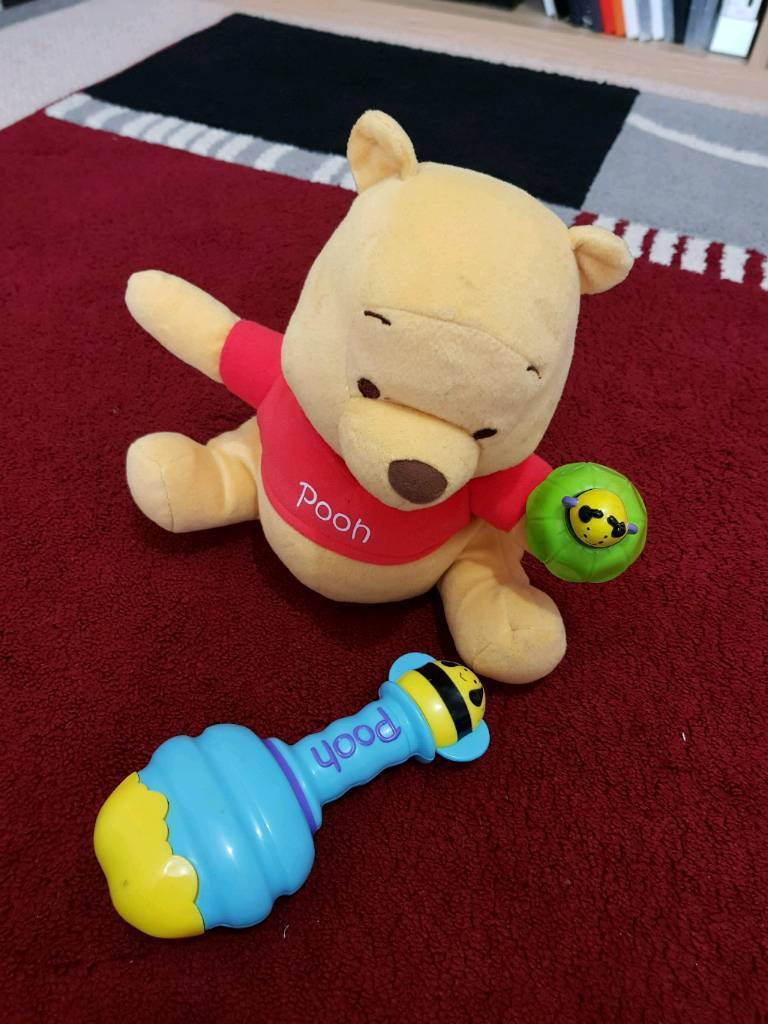 Winnie the pooh rattle and dance toy