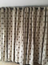 Dunelm lined curtains 90x84 drop