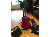 Epiphone SG Special - Cherry Red - includes amplifier, cable and case