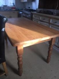 6ft Solid Pitch pine farmhouse dining table