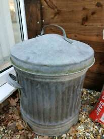 Old Galvanised Dustbin