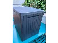 Keter City Box Wood effect Flat Garden storage box