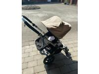 Bugaboo Camelon in cream with added accessories